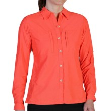 ExOfficio Dryflylite Shirt - Long Sleeve (For Women) in Glamour - Closeouts