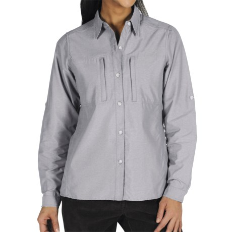 ExOfficio Dryflylite Shirt - Long Sleeve (For Women) in Bone