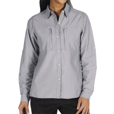 ExOfficio Dryflylite Shirt - Long Sleeve (For Women) in Glamour