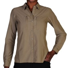 ExOfficio Dryflylite Shirt - Long Sleeve (For Women) in Walnut - Closeouts