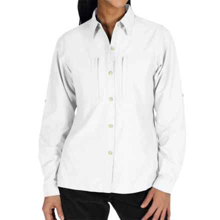 ExOfficio Dryflylite Shirt - Long Sleeve (For Women) in White - Closeouts