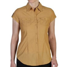 ExOfficio Dryflylite Shirt - UPF 30+, Short Sleeve (For Women) in Chai - Closeouts