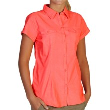 ExOfficio Dryflylite Shirt - UPF 30+, Short Sleeve (For Women) in Nectar - Closeouts
