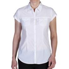 ExOfficio Dryflylite Shirt - UPF 30+, Short Sleeve (For Women) in White - Closeouts