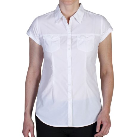 ExOfficio Dryflylite Shirt UPF 30+, Short Sleeve (For Women)