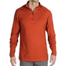 ExOfficio ExO Dri Carbonite Shirt - Zip Neck, Long Sleeve (For Men) in Flame - Closeouts