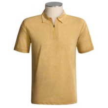 ExOfficio ExO Dri Cricket Zip Shirt - Dri-Release®, Short Sleeve (For Men) in Dk Turmeric - Closeouts