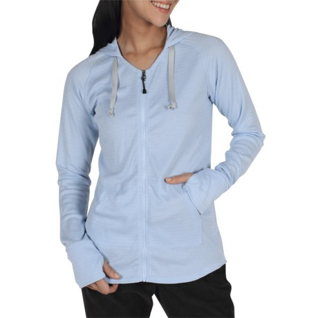 ExOfficio eXo Dri Lattice Zip Hoodie Shirt - UPF 15+, Dri-Release® (For Women) in Frost