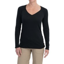 ExOfficio ExO Dri Pointelle Shirt - UPF 30+, Long Sleeve (For Women) in Black - Closeouts