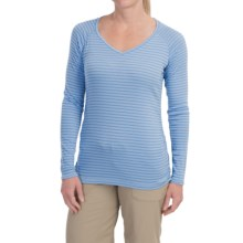 ExOfficio ExO Dri Pointelle Shirt - UPF 30+, Long Sleeve (For Women) in Light Lapis - Closeouts