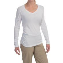 ExOfficio ExO Dri Pointelle Shirt - UPF 30+, Long Sleeve (For Women) in White - Closeouts