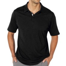 ExOfficio ExO JavaTech Polo Shirt - Short Sleeve (For Men) in Black - Closeouts