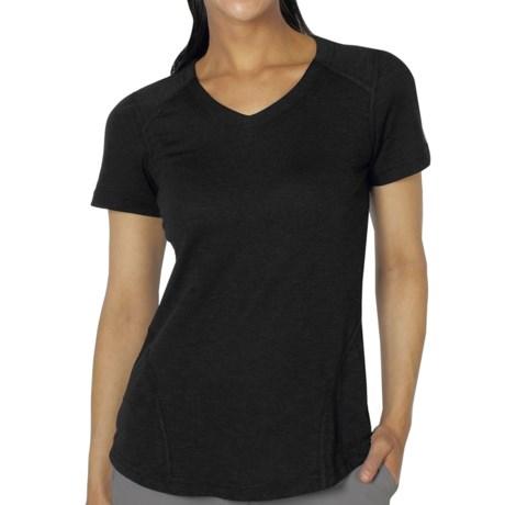 ExOfficio ExO JavaTech V-Neck Shirt - Short Sleeve (For Women) in Black