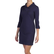 ExOfficio Fionna V-Neck Dress - 3/4 Sleeve (For Women) in Evening - Closeouts