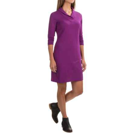 ExOfficio Fionna V-Neck Dress - 3/4 Sleeve (For Women) in Nouveau - Closeouts