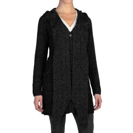 ExOfficio Floriana Convertible Cardigan Sweater (For Women) in Black/Cement - Closeouts