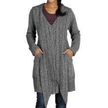 ExOfficio Floriana Convertible Cardigan Sweater (For Women) in Cement - Closeouts