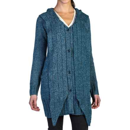 ExOfficio Floriana Convertible Cardigan Sweater (For Women) in Marina - Closeouts
