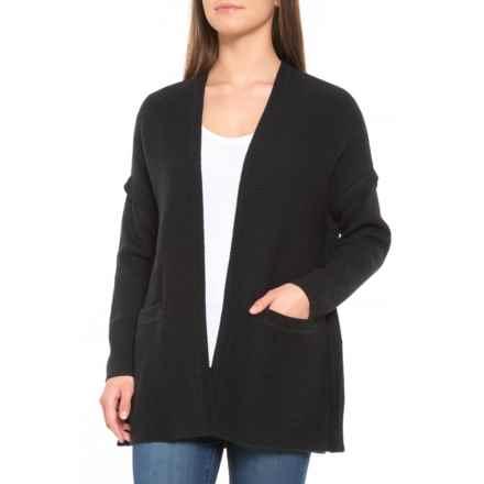 ExOfficio Gabriola Cardigan Sweater - Merino Wool Blend (For Women) in Black - Closeouts