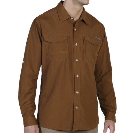 ExOfficio Geotrek'r Field Shirt - UPF 30+, Long Sleeve (For Men) in Henna