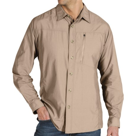ExOfficio GeoTrek'r Shirt - UPF 30+ (For Men) in Bone