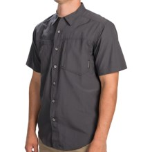 ExOfficio Geotrek'r Shirt - UPF 30+, Short Sleeve (For Men) in Dark Pebble - Closeouts