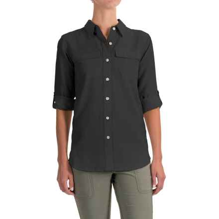 ExOfficio Gill Shirt - UPF 20+, Long Sleeve (For Women) in Black - Closeouts