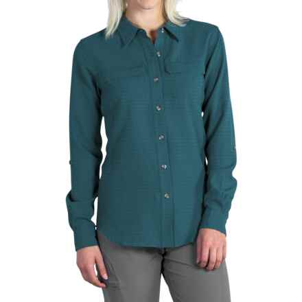 ExOfficio Gill Shirt - UPF 20+, Long Sleeve (For Women) in Marina - Closeouts