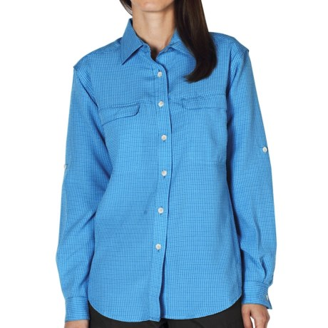ExOfficio Gill Shirt - UPF 20+, Long Sleeve (For Women) in Mediterranean