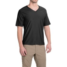 ExOfficio Give-N-Go Base Layer Top - V-Neck, Short Sleeve (For Men) in Black - Closeouts