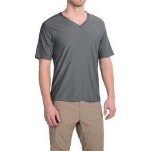 ExOfficio Give-N-Go Base Layer Top - V-Neck, Short Sleeve (For Men) in Charcoal - Closeouts