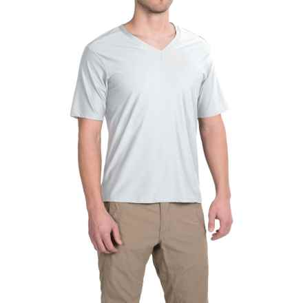 ExOfficio Give-N-Go Base Layer Top - V-Neck, Short Sleeve (For Men) in White - Closeouts