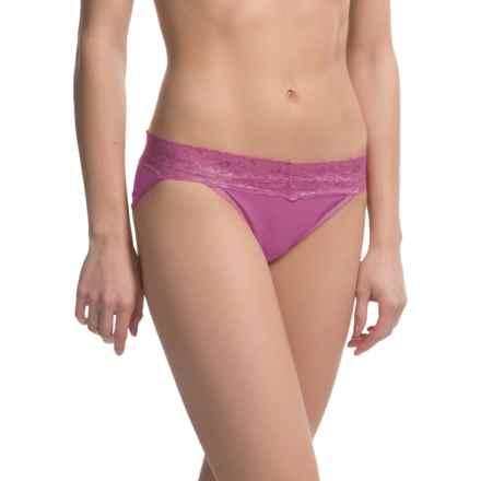 ExOfficio Give-N-Go® Lacy Panties - Bikini, Low Rise (For Women) in Raspberry - Closeouts