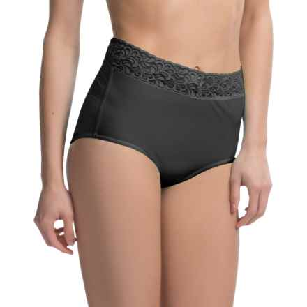 ExOfficio Give-N-Go® Lacy Panties - Full-Cut Briefs (For Women) in Black - Closeouts