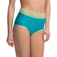 ExOfficio Give-N-Go® Lacy Panties - Full-Cut Briefs (For Women) in Chlorine - Closeouts