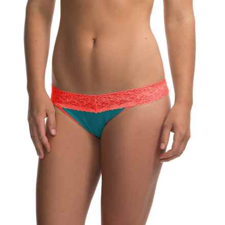 ExOfficio Give-N-Go Lacy Panties - Thong (For Women) in Electra - Closeouts