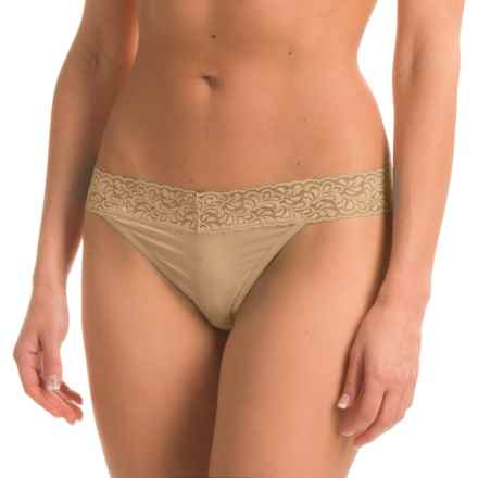 ExOfficio Give-N-Go® Lacy Thong Panties (For Women) in Nude - Closeouts