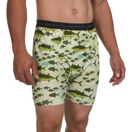 ExOfficio Give-N-Go® Printed Boxer Briefs (For Men) in Fish/Pista - Closeouts