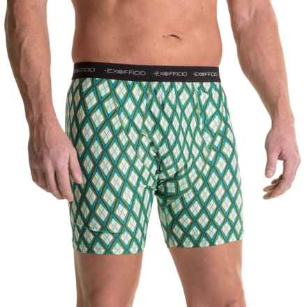 ExOfficio Give-N-Go® Printed Boxer Briefs (For Men) in Hops/Argyle - Closeouts