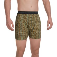 ExOfficio Give-N-Go® Printed Boxer Briefs (For Men) in Thyme/Texture - Closeouts