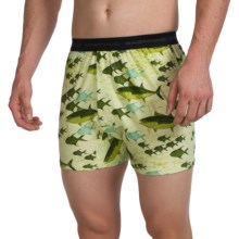 ExOfficio Give-N-Go® Printed Boxers (For Men) in Fish/Pistachio - Closeouts