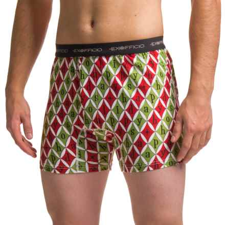 ExOfficio Give-N-Go® Printed Boxers (For Men) in Happy Holidays - Closeouts