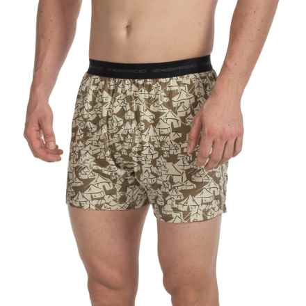 ExOfficio Give-N-Go® Printed Boxers (For Men) in Loden/Yurt - Closeouts