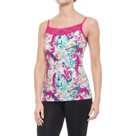 ExOfficio Give-N-Go® Printed Lacy Camisole - Built-In Shelf Bra (For Women) in Fern/Multi