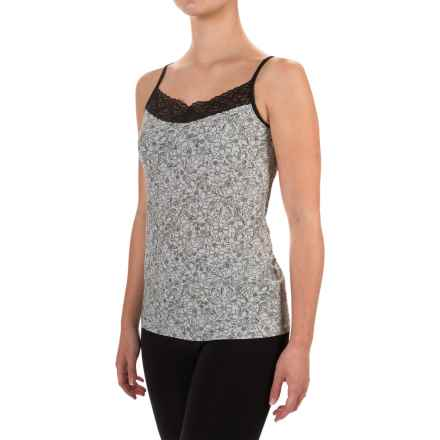 ExOfficio Give-N-Go® Printed Lacy Camisole - Built-In Shelf Bra (For Women) in Whimsical/Black - Closeouts