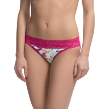 ExOfficio Give-N-Go® Printed Lacy Panties - Bikini, Low Rise (For Women) in Fern/Multi - Closeouts