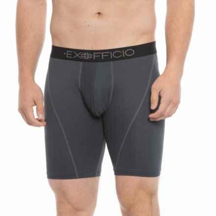 "ExOfficio Give-N-Go® Sport Mesh Boxer Briefs - 9"" (For Men) in Carbon"