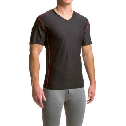 ExOfficio Give-N-Go® Sport Mesh Shirt - V-Neck, Short Sleeve (For Men) in Black - Closeouts