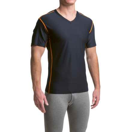 ExOfficio Give-N-Go® Sport Mesh Shirt - V-Neck, Short Sleeve (For Men) in Curfew - Closeouts