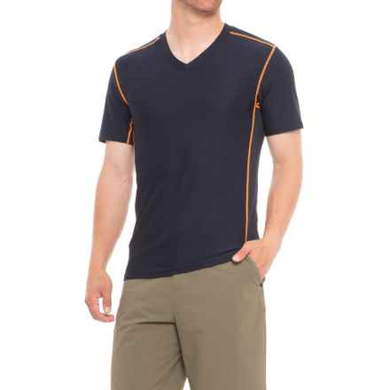 ExOfficio Give-N-Go® Sport Mesh T-Shirt - V-Neck, Short Sleeve (For Men) in Curfew - Closeouts